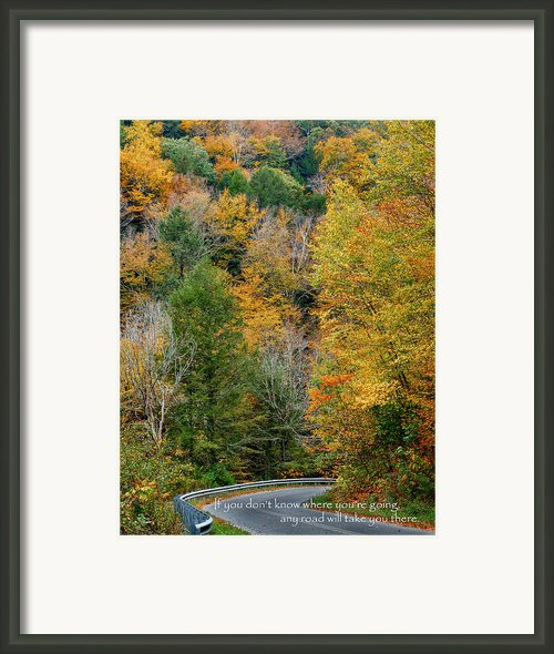 Any Road Framed Print By Bill  Wakeley