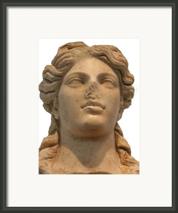 Aphrodite The Goddess Of Love And Beauty  Framed Print By Tracey Harrington-simpson
