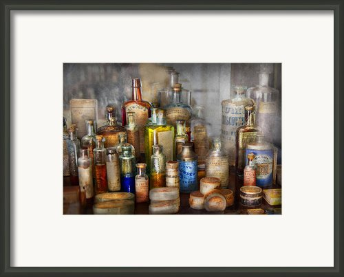 Apothecary - For All Your Aches And Pains  Framed Print By Mike Savad