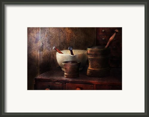 Apothecary - Pick A Pestle  Framed Print By Mike Savad