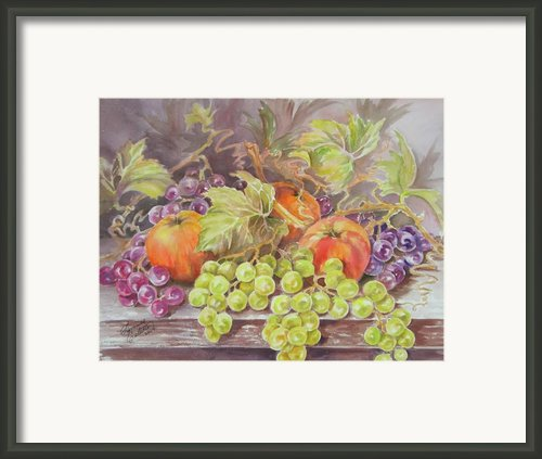 Apples And Grapes Framed Print By Summer Celeste