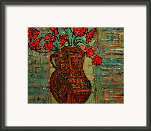 April  Framed Print By Oscar Penalber