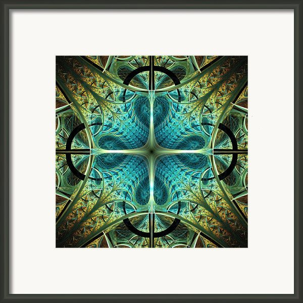 Aqua Shield Framed Print By Anastasiya Malakhova