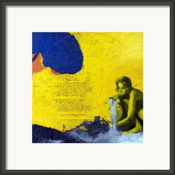 Aquarius Abstract Framed Print By Corporate Art Task Force