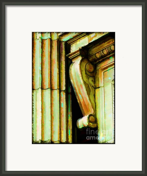 Archatectural Elements  Digital Paint Framed Print By Debbie Portwood