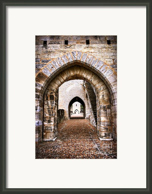 Arches Of Valentre Bridge In Cahors France Framed Print By Elena Elisseeva