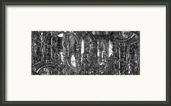Architectural Utopia 4 Fragment Framed Print By Serge Yudin