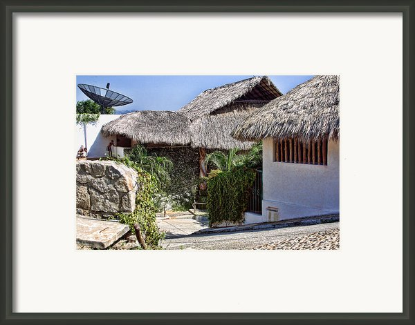 Architecture With Thathed Roofs Framed Print By Linda Phelps