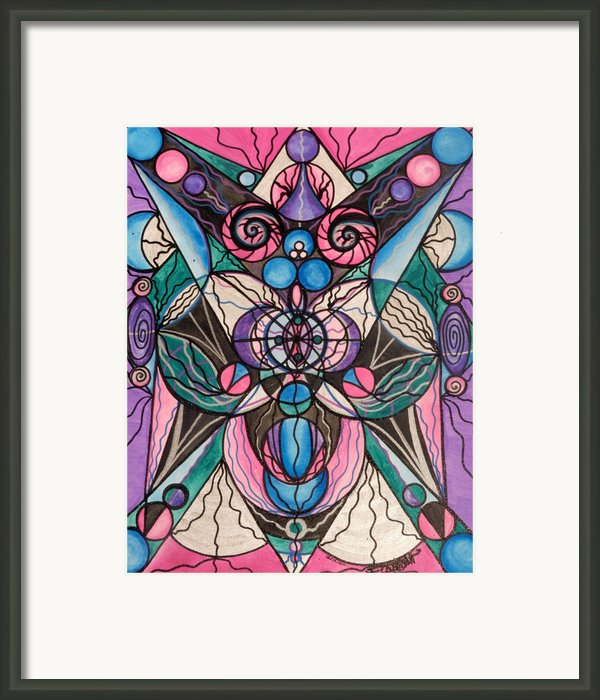 Arcturian Healing Lattice  Framed Print By Teal Eye  Print Store
