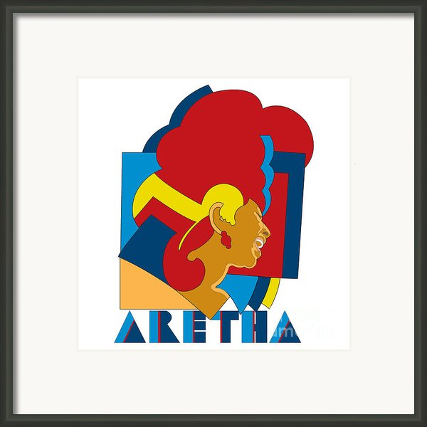 Aretha Franklin No.05 Framed Print By Caio Caldas
