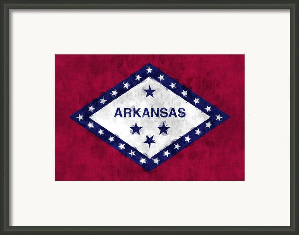 Arkansas Flag Framed Print By World Art Prints And Designs