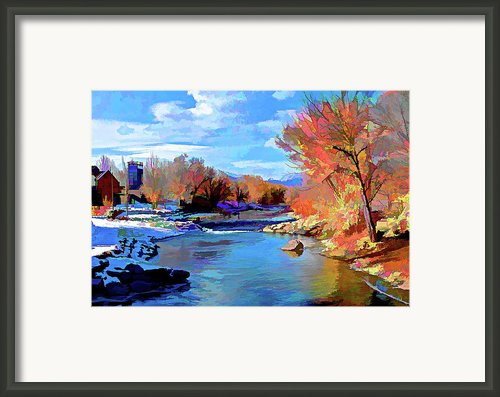 Arkansas River In Salida Co Framed Print By Charles Muhle