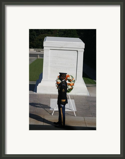 Arlington National Cemetery - Tomb Of The Unknown Soldier - 121212 Framed Print By Dc Photographer