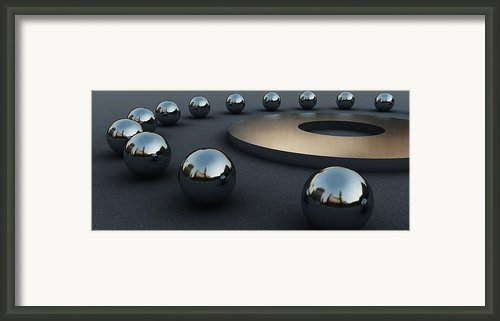 Around Circles Framed Print By Richard Rizzo