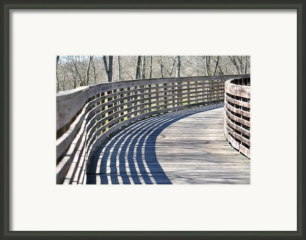 Around The Bend Framed Print By Teresa Blanton