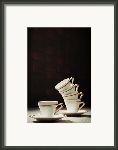 Art Deco Teacups Framed Print By Christopher And Amanda Elwell