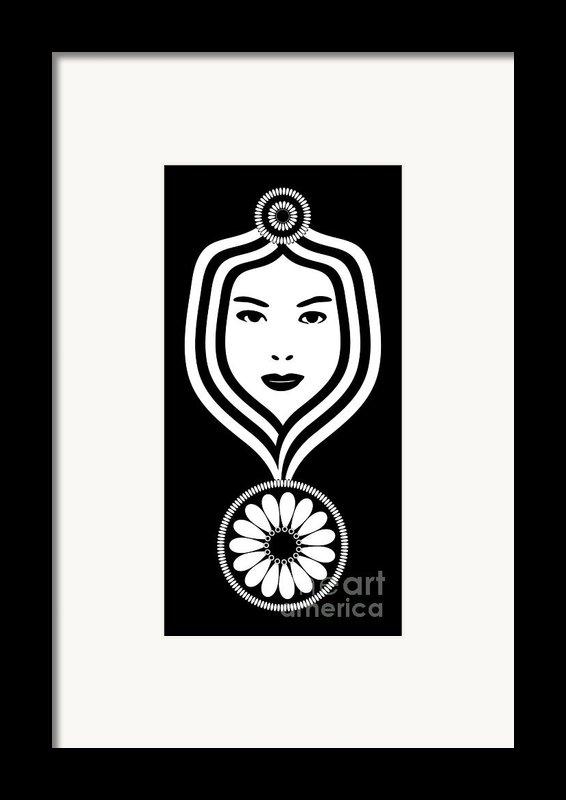 Art Nouveau Woman Framed Print By Frank Tschakert