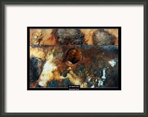 Art Work 206 Ship Rust Framed Print By Alexander Drum