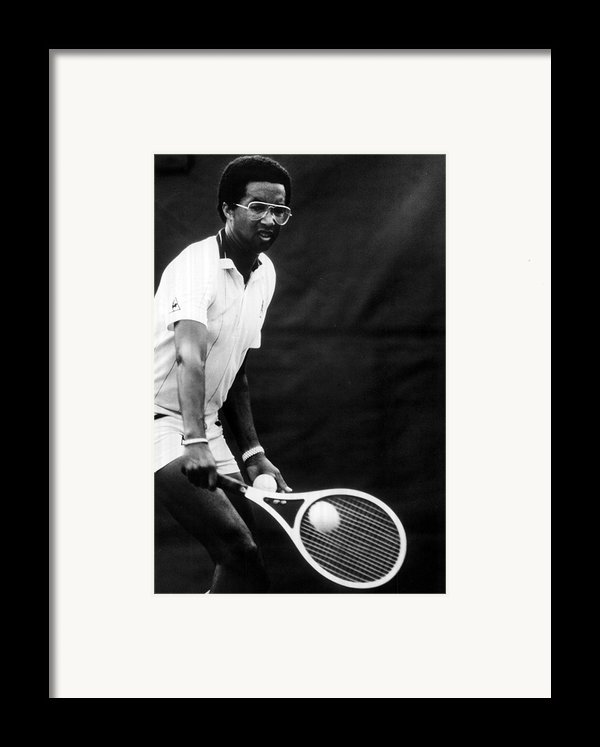 Arthur Ashe Playing Tennis Framed Print By Retro Images Archive