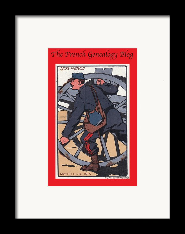 Artilleur 1915 With Fgb Border Framed Print By A Morddel