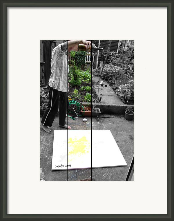 Artist At Work Three Framed Print By Josef Putsche