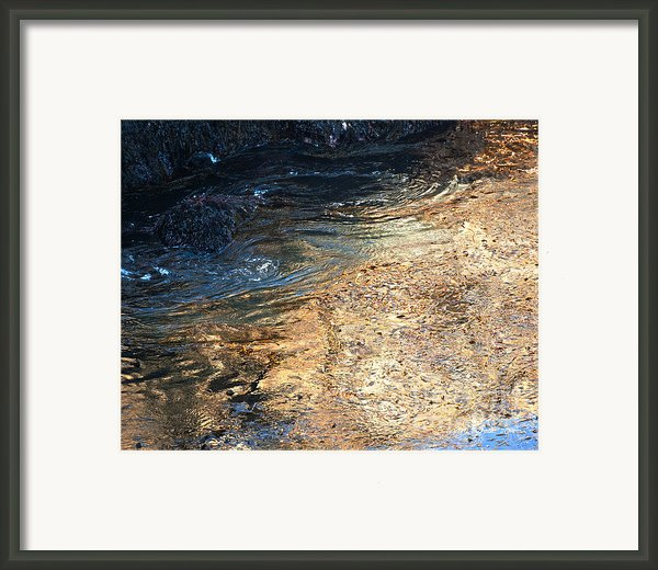 As The Ocean Wave Swirled It Looked Like Gold Framed Print By Author And Photographer Laura Wrede