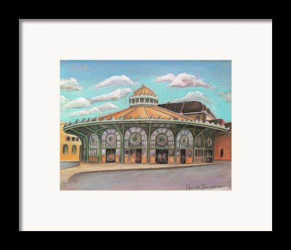 Asbury Park Carousel House Framed Print By Melinda Saminski