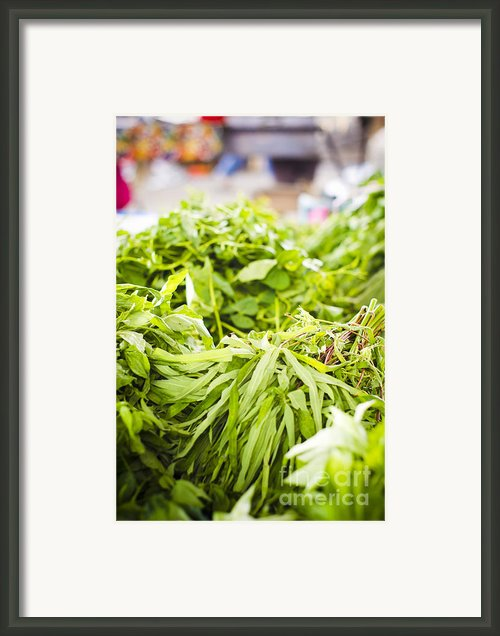 Asian Market Vegetable Framed Print By Tuimages