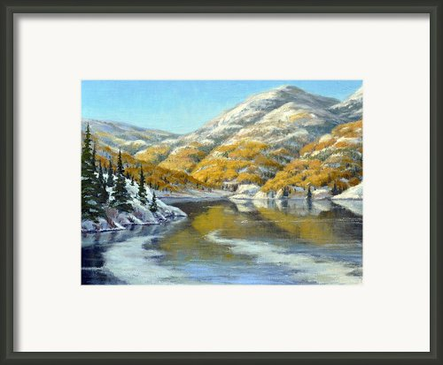 Aspens First Snow Framed Print By Rick Hansen
