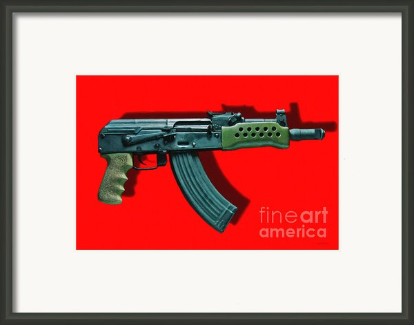 Assault Rifle Pop Art - 20130120 - V1 Framed Print By Wingsdomain Art And Photography