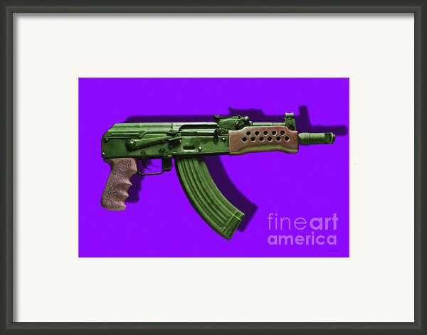 Assault Rifle Pop Art - 20130120 - V4 Framed Print By Wingsdomain Art And Photography