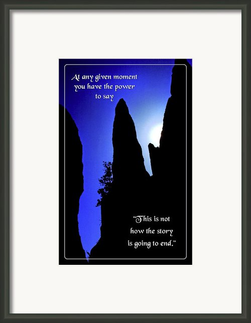 At Any Given Moment Framed Print By Mike Flynn