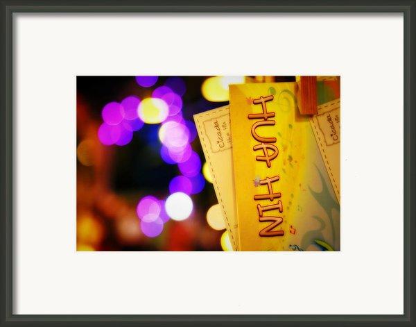 At Cicada Market Huahin Framed Print By Suradej Chuephanich