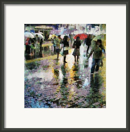 At Last Spring Rain Framed Print By Gun Legler