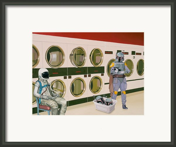 At The Laundromat With Boba Fett Framed Print By Scott Listfield