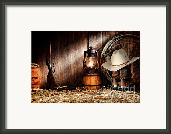 At The Old Ranch Framed Print By Olivier Le Queinec