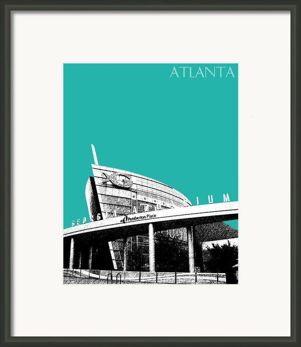 Atlanta Georgia Aquarium - Teal Green Framed Print By Db Artist