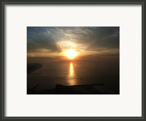 Atlantic City Sunset Framed Print By John Telfer