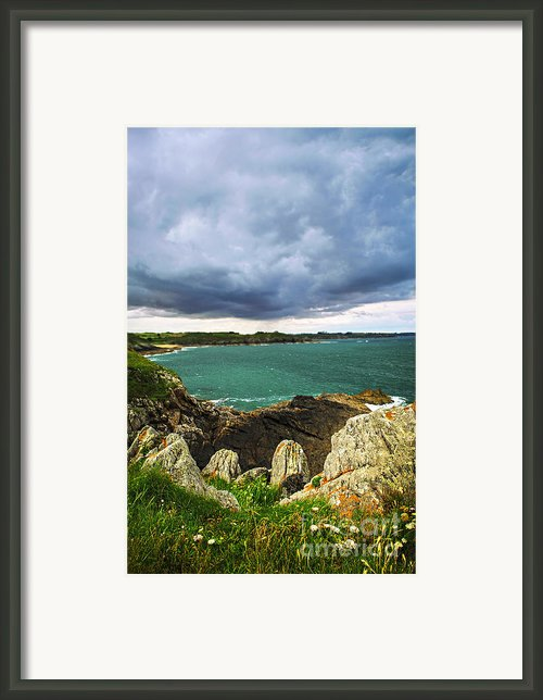 Atlantic Coastline In Brittany Framed Print By Elena Elisseeva
