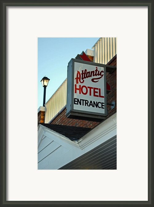Atlantic Hotel Framed Print By Skip Willits