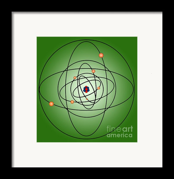 Atomic Structure Model Framed Print By Science Source