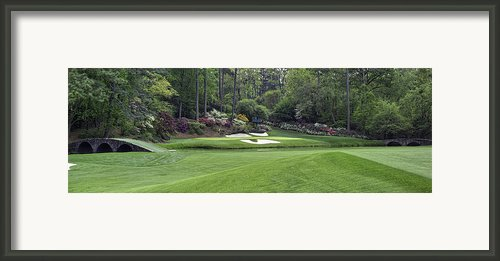 Augusta National 12 Golden Bell Masters Panorama Photo 2 Framed Print By Phil Reich