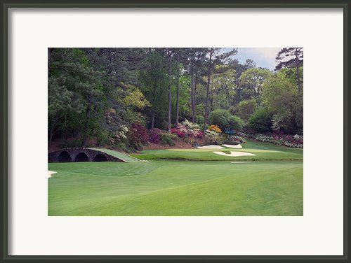 Augusta National Golf Club Hole 12 Golden Bell Photo 2 Framed Print By Phil Reich