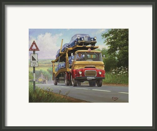Austin Carrimore Transporter Framed Print By Mike  Jeffries