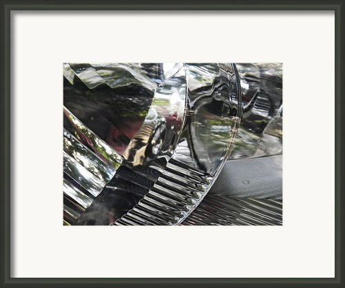 Auto Headlight 5 Framed Print By Sarah Loft