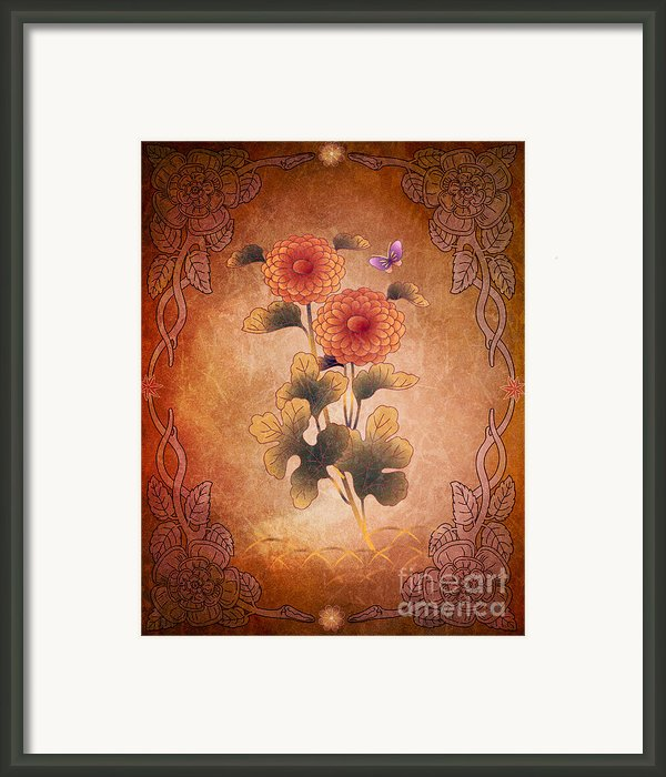 Autumn Blooming Mum Framed Print By Bedros Awak