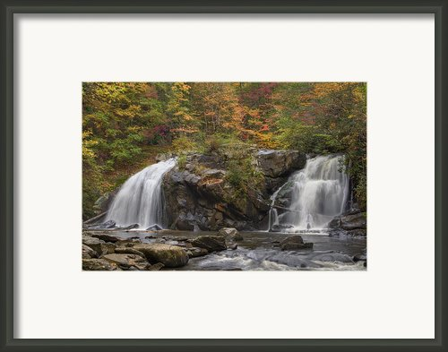 Autumn Cascades Framed Print By Debra And Dave Vanderlaan