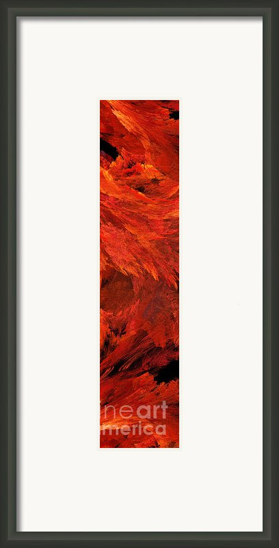 Autumn Fire Pano 2 Vertical Framed Print By Andee Design