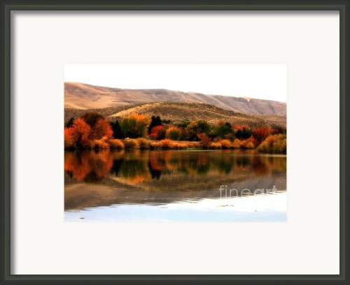 Autumn Glow On The Yakima River Framed Print By Carol Groenen