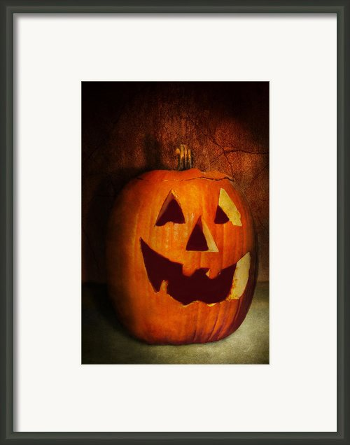 Autumn - Halloween - Jack-o-lantern  Framed Print By Mike Savad
